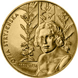 Image of 2 zloty coin - Zofia Stryjeńska | Poland 2011.  The Nordic gold (CuZnAl) coin is of UNC quality.