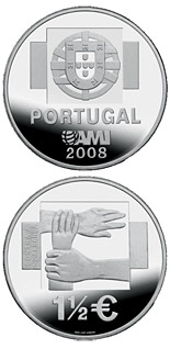 1.5 euro coin Assistencia Médica Internacional AMI - Against the indifference | Portugal 2008
