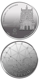Image of 2.5 euro coin – Hieronymites Monastery | Portugal 2009