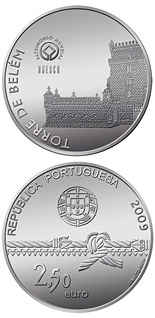 Image of 2.5 euro coin – Tower of Belém | Portugal 2009