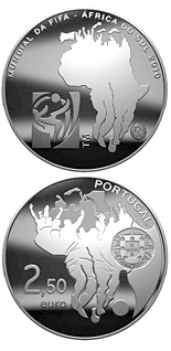 2.5 euro coin FIFA World Cup South Africa | Portugal 2010