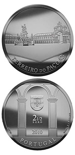 2.5 euro coin Terreiro do Paço | Portugal 2010