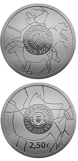 2.5 euro Côa Valley Archeological Site - 2010 - Series: Commemorative 2.5 euro coins - Portugal