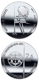 2.5 euro coin Centenary of the Pupils of the Army | Portugal 2011