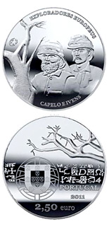 2.5  coin European Explorers: Hermenegildo Capelo and Roberto Ivens | Portugal 2011