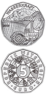 5 euro coin Water power | Austria 2003