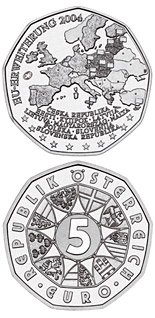 5 euro coin EU Enlargement  | Austria 2004