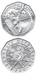 5 euro coin Winter Games 2010 Ski-jump | Austria 2010