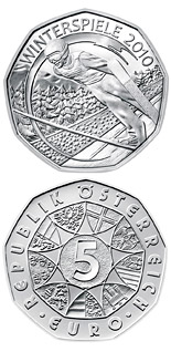 5 euro coin Winter Games 2010 Snowboard | Austria 2010