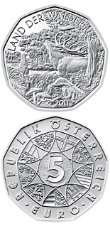 5 euro coin Land of forests | Austria 2011