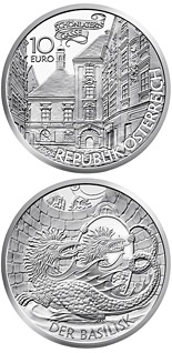 10 euro coin The Basilisk of Vienna | Austria 2009