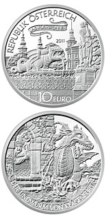 10 euro coin The Lindwurm in Klagenfutrt | Austria 2011