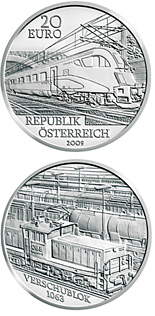 20 euro coin The Railway of the Future | Austria 2009