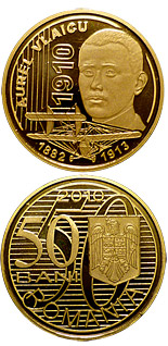 50 bani coin The centennial anniversary of the first flight of an aircraft engineered by Aurel Vlaicu | Romania 2010