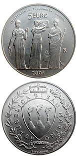 5 euro coin Independence, Tolerance and Liberty | San Marino 2003