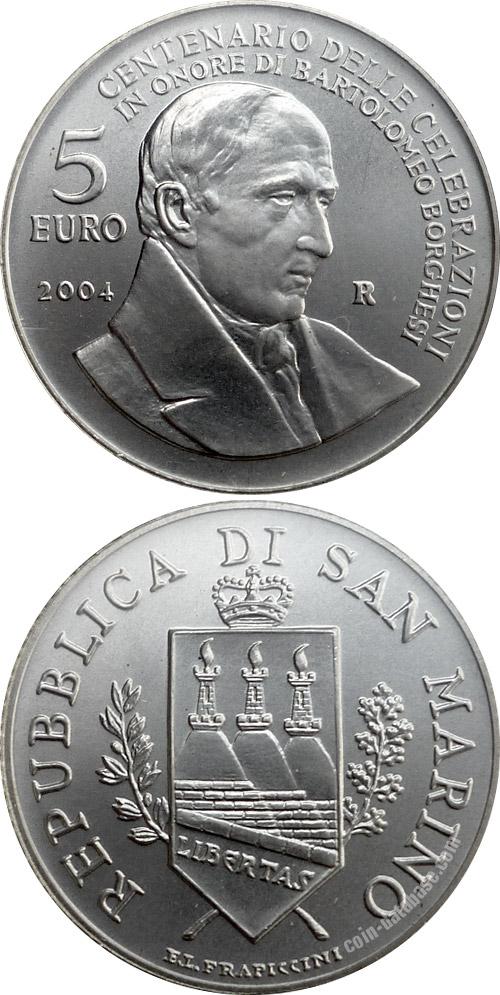 Silver 5 Euro Coins San Marino Coin Series Collector Coin Database