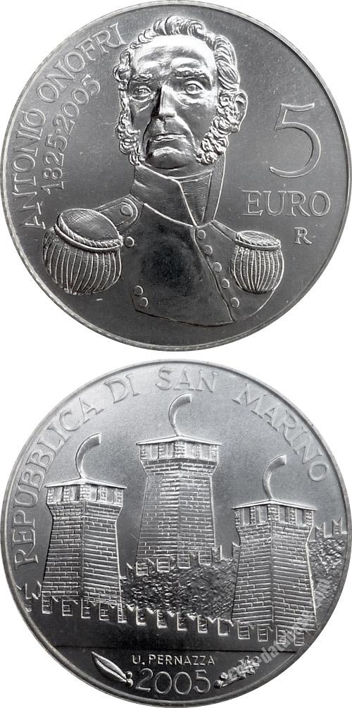 Silver 5 Euro Coins San Marino Coin Series Collector