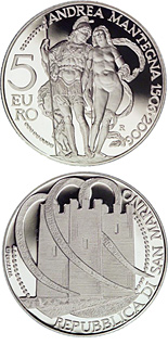 5 euro 500th Anniversary of the death of Andrea Mantenga - 2006 - Series: Proof silver 5 euro coins - San Marino