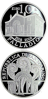 10 euro coin 100th Anniversary of the death of Giosuè Carducci 1907-2007 | San Marino 2008