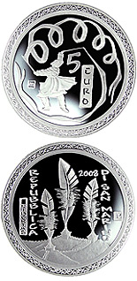 5 euro The olympic games in Beijing - 2008 - Series: Proof silver 5 euro coins - San Marino