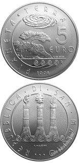 5 euro International Year of Planet Earth - 2008 - Series: Silver 5 euro coins - San Marino