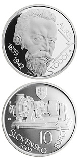 10 euro Aurel Stodola - the 150th anniversary of the birth  - 2009 - Series: Silver 10 euro coins - Slovakia