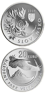 20 euro Protection of Nature and Landscape - Veľká Fatra National Park  - 2009 - Series: Silver 20 euro coins - Slovakia