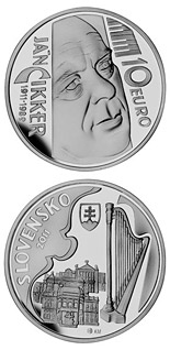 10 euro Ján Cikker - the 100th anniversary of the birth  - 2011 - Series: Silver 10 euro coins - Slovakia