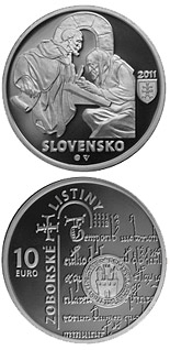 10 euro coin Documents of Zobor - the 900th anniversary of the origin  | Slovakia 2011