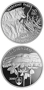 20 euro Protection of Nature and Landscape - Poloniny National Park  - 2010 - Series: Silver 20 euro coins - Slovakia