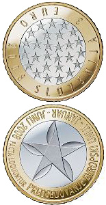 3 euro coin Presidency of the European Union | Slovenia 2008