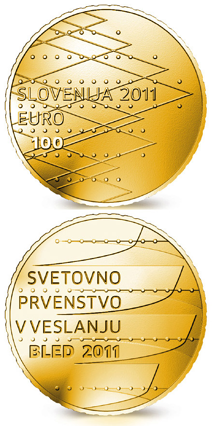 100 euro World Rowing Championships Bled 2011 - 2011 - Series: Gold 100 euro coins - Slovenia