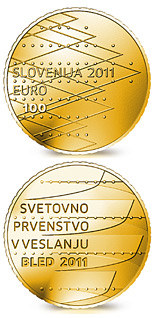 100 euro coin World Rowing Championships Bled 2011 | Slovenia 2011