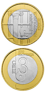 3 euro World Book Capital City - 2010 - Series: Bimetal 3 euro coins - Slovenia