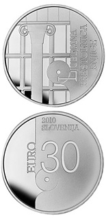 30 euro World Book Capital City - 2010 - Series: Silver 30 euro coins - Slovenia