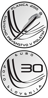 30 euro coin Ski Flying World Championships  | Slovenia 2010