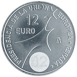 12 euro coin Spain's Presidency of the EU | Spain 2002