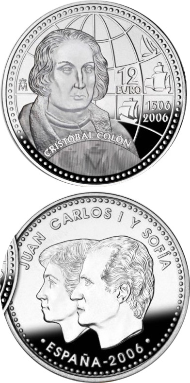12 euro Christopher Columbus 5th Centenary  - 2006 - Series: Silver 12 euro and 20 euro coins - Spain
