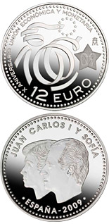 12 euro coin 10th Anniversary EMU | Spain 2009
