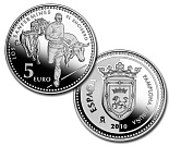 5 euro coin Pamplona | Spain 2010