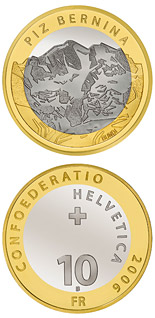10 franc coin Piz Bernina | Switzerland 2006