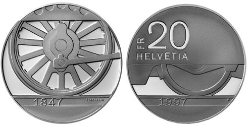 Silver 20 Francs Coins Switzerland Coin Series