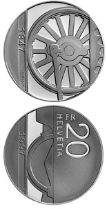20 francs Swiss trains - 1997 - Series: Silver 20 francs coins - Switzerland