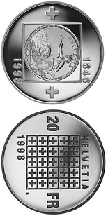 20 francs 150 J. Bundesstaat - 1998 - Series: Silver 20 francs coins - Switzerland