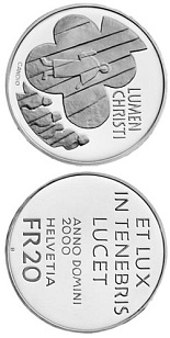 Image of a coin 20 francs | Switzerland | Lumen Christi, 2000 years of Christianity | 2000