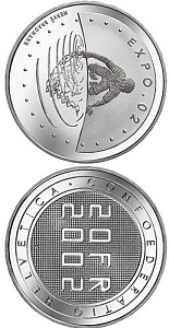 20 franc coin Expo.02  | Switzerland 2002