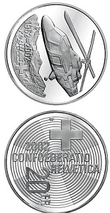 20 franc coin Rega ( Air Rescue) | Switzerland 2002