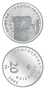Image of a coin 20 francs | Switzerland | 100th anniversary of the Geneva Motor Show Silver | 2005