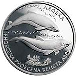 Image of 10 hryvnia  coin – Azov Dolphin | Ukraine 2004.  The Silver coin is of Proof quality.