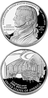 1 dollar Chief Justice John Marshall  - 2005 - Series: Commemorative silver 1 dollar coins - USA